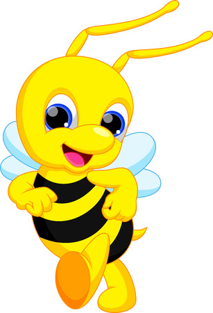 ute bee cartoon Vector