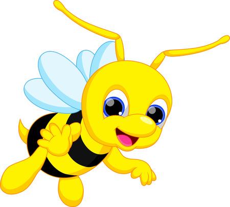 drawing cartoon: Cute bee cartoon