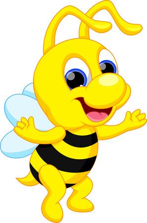 worker bees: Cute bee cartoon