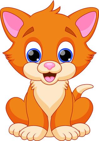 Divertidos dibujos animados del gato Vectores