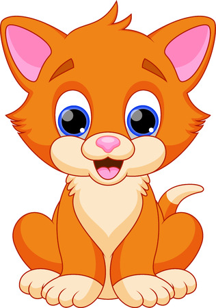 Funny cat cartoon Illustration