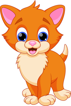 Dibujos animados graciosos gato Foto de archivo - 28297815