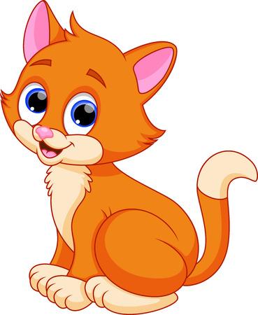 koty: Śmieszne kot kreskówki Ilustracja