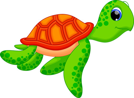 carapace: Cute turtle cartoon