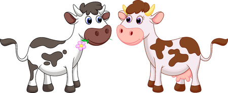 calf: Cute cow cartoon Illustration