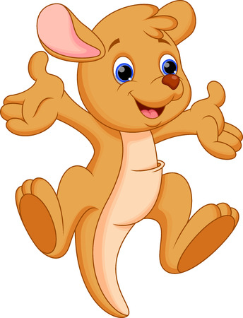 Cute baby cangaroo cartoon Stock Vector - 28414262