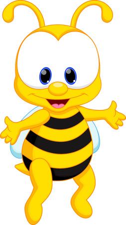 queen bee: Linda abeja de la historieta Vectores