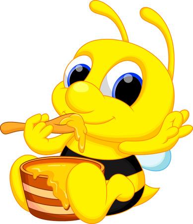 comic wasp: Cute baby bee cartoon