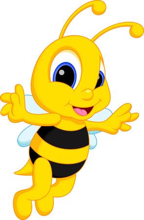 Cute bee cartoon Vector