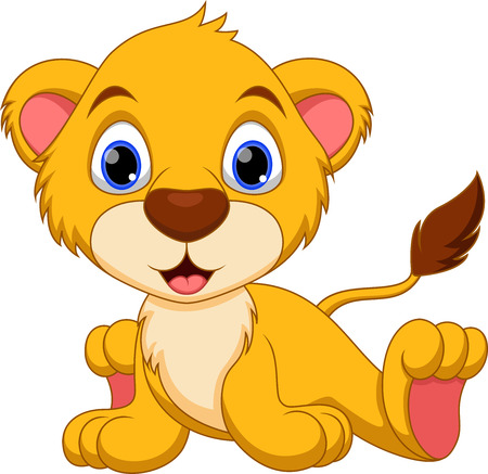 whisker: Cute baby lion cartoon