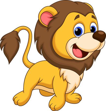 Lion mignon de bande dessinée
