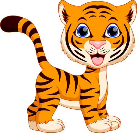 Cute female tiger cartoon