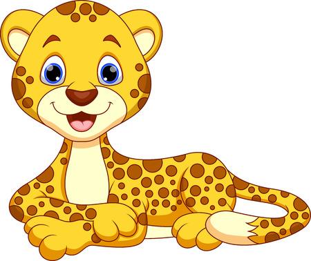 chita: Historieta linda del guepardo Vectores