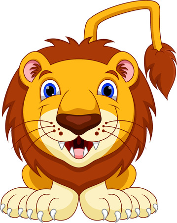Cute lion cartoon Illustration