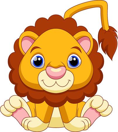 Bebé lindo de la historieta del león