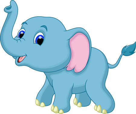 elefante cartoon: Historieta linda del elefante