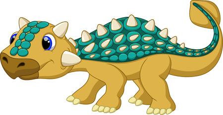 Cute ankylosaurus cartoon Stok Fotoğraf - 30015611
