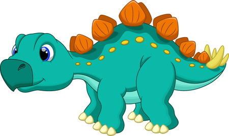 stegosaurus: Cute stegosaurus cartoon  Illustration
