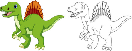 cartoon world: Spinosaurus cartoon