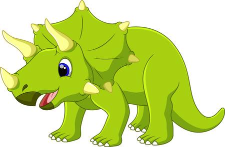 petrifying: Cute dinosaur triceratops cartoon