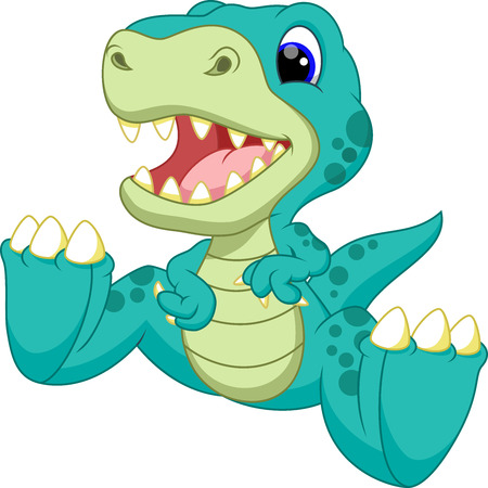 dinosaurio caricatura: Lindo bebé de dibujos animados dinosaurio