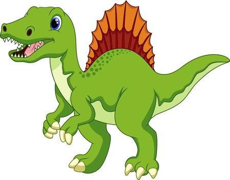 titan: Cute spinosaurus cartoon