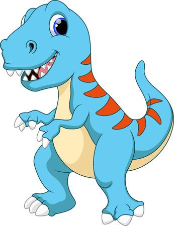 dinosaurio caricatura: Cute dibujos animados Tyrannosaurus
