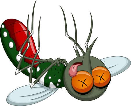 Death mosquito cartoon  Illustration