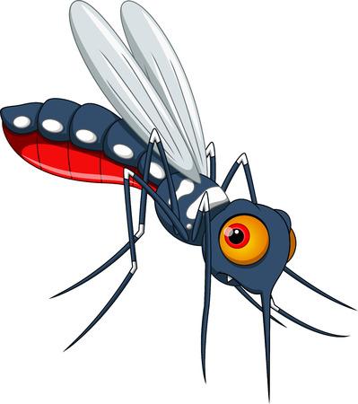 Cute mosquito cartoon  Vector