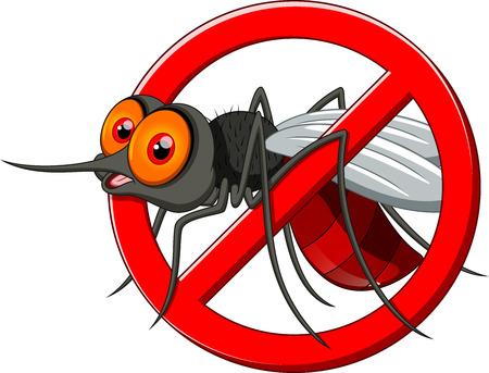 plagas: Deje de dibujos animados mosquito Vectores