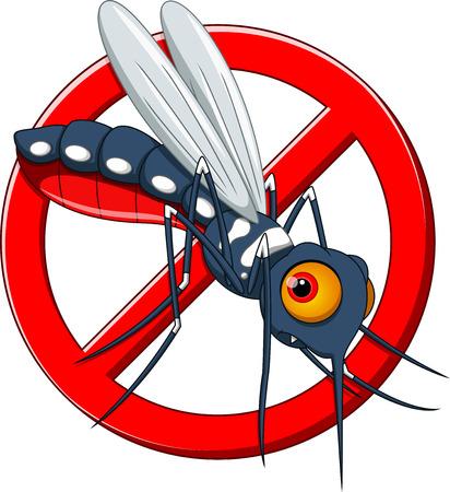 Stop mosquito cartoon  Vector