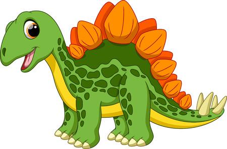Cute stegosaurus cartoon   イラスト・ベクター素材