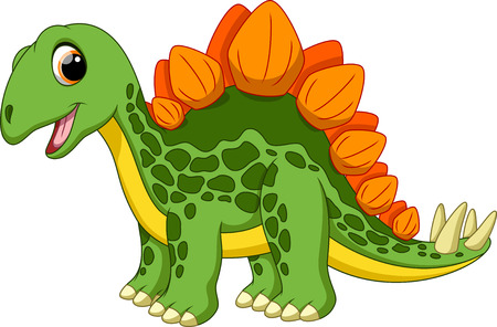 Cute stegosaurus cartoon  Illustration