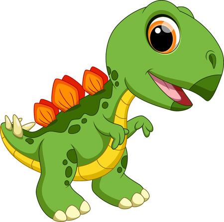 stegosaurus: Bebé lindo de la historieta estegosaurio Vectores