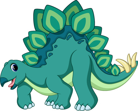 Cute stegosaurus cartoon  Illustration