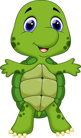 Cute baby turtle cartoon Vector
