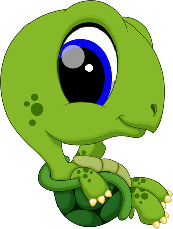 Cute baby turtle cartoon
