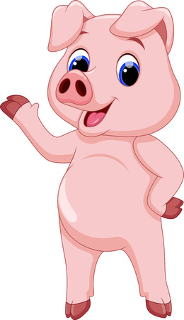 swine: Cute pig cartoon