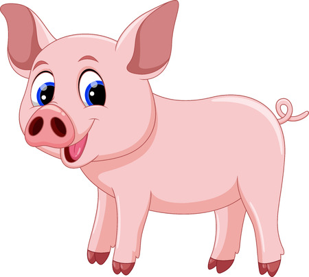 귀여운 돼지 만화