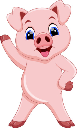 piglet: Cute pig cartoon