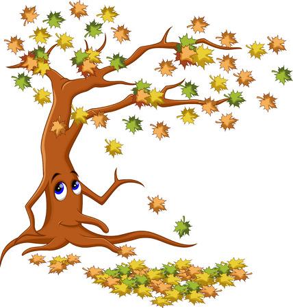 cartoon autumn: autumn tree cartoon