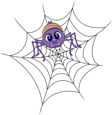 grappige cartoon spider Stock Illustratie