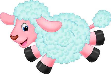 sheep wool: Cute sheep cartoon Illustration