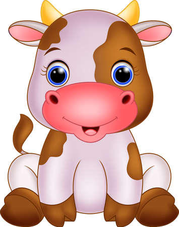 dairy: Милый ребенок корова мультфильм