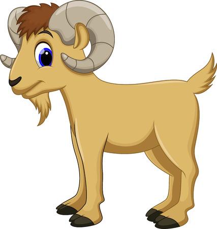 Cute goat cartoon Ilustrace