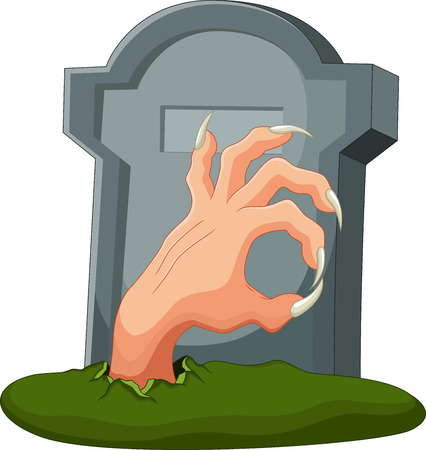 Hand out of the grave Illustration