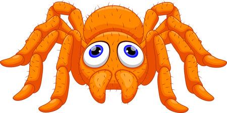 Cute tarantula cartoon 矢量图片