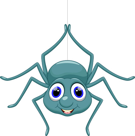 Leuke cartoon spider Stock Illustratie