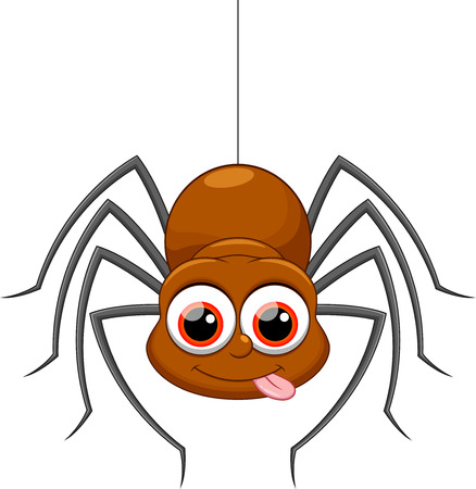 Cute spider cartoon 版權商用圖片 - 33879485