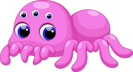 tarantula: Cute baby tarantula cartoon Illustration